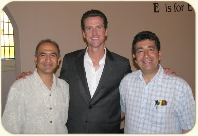 Homayoun Sikaroudi, San Francisco Mayor Mr. Gavin Newsom, Fred Darouian